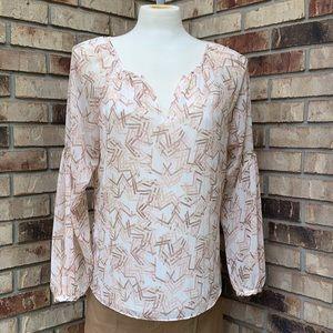 WHBM breezy blouse size 12